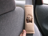 bear on fleece seat belt wrap
